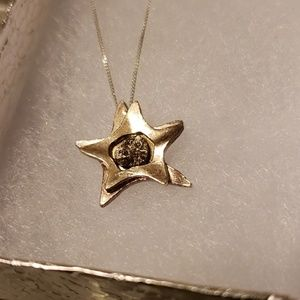 Unknown Jewelry - Silver star meteorite necklace sterling silver